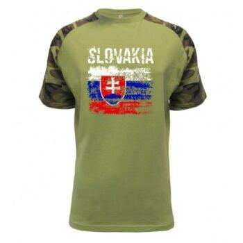 Slovakia RasterTričko Bavlnené Olivové