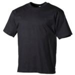 Kvalitné klasické bavlnené tričko čierne MFH