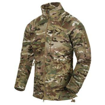 Helikon-TexAlpha Tactical Grid Fleece Mikina Multicam