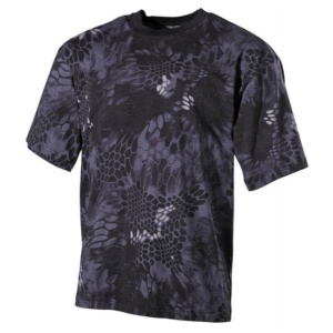 Maskovacie tričko US Snake Black MFH