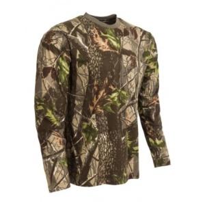 Tričko maskovacie s dlhým rukávom, Hardwood Zelený, M-Tramp