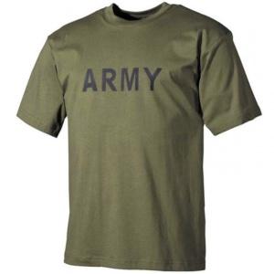 Tričko s nápisom Army zelené MFH