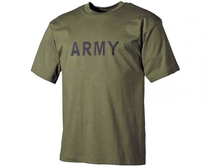 1e9d0d9c0907 MFH tričko s nápisom Army Zelené - HORAL shop