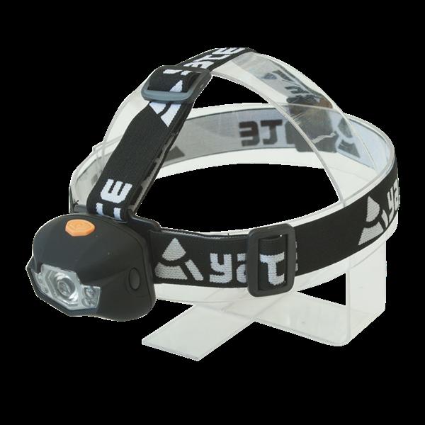 Čelovka Panter 3 W CREE+2 LED čierna Yate
