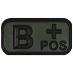 3D Nášivka krvnej skupiny B+ positive na suchý zips