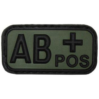 3D Nášivka krvnej skupiny, AB+, pozitív, na suchý zips