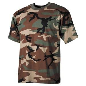 Tričko maskovacie US Woodland MFH