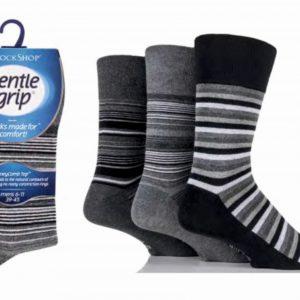 Pánske bavlnené ponožky s voľným lemom3 Párové -Gentle Grip