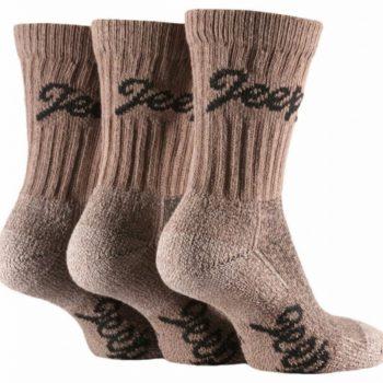 Ponožky Dámske Terrain Outdoor s froté chodidlom Hnedé 3 párové balenie - Jeep