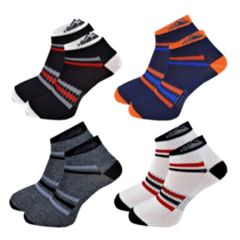 Pánske Bavlnené Športové Členkové Ponožky - 3 páry