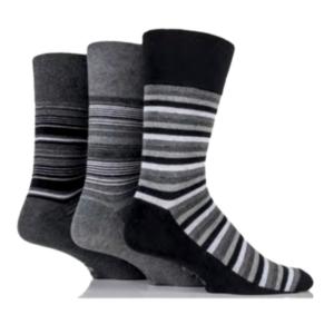 Gentle Grip Pánske Bavlnené Ponožky S Voľným Lemom 3 Páry