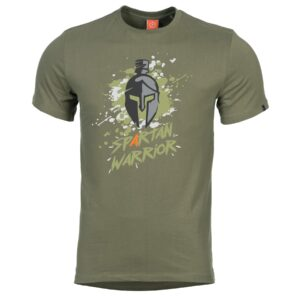 Tričko Spartan Warrior olivové Pentagon