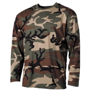 Tričko US dlhý rukáv, Woodland, MFH