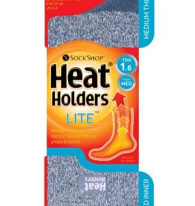 Dámske termo ponožky stredné modrý melír Heat Holders