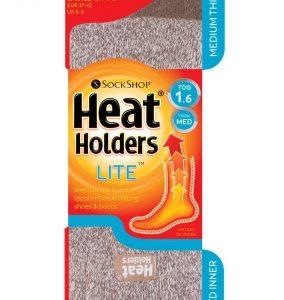 Dámske termo ponožky stredné Hnedý melír Heat Holders