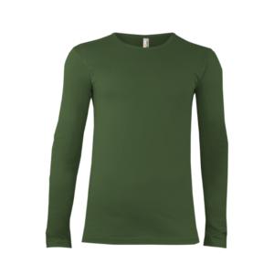 Alex Fox Pánske Tričko Dlhý Rukáv Zelené