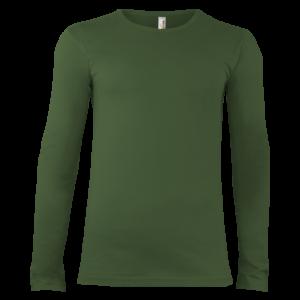 Pánske tričko dlhý rukáv zelené Alex Fox