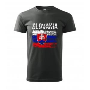 Tričko Slovakia raster čierne