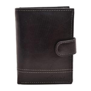 Kožená peňaženka s klipom Čierna
