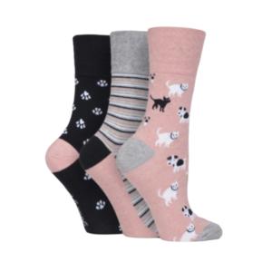 Gentle Grip Dámske Bavlnené PonožkyGrip Fun Pets