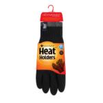 Heat Holders 2.3 Contrast Pánske Zimné Rukavice S Termo Podšívkou Čierne