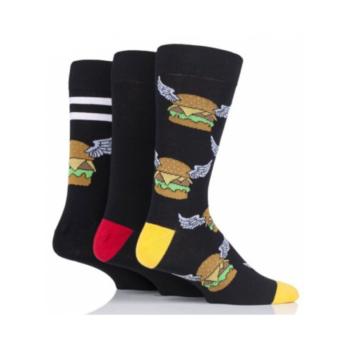 Wild Feet Vzorované Ponožky Burger3 Páry