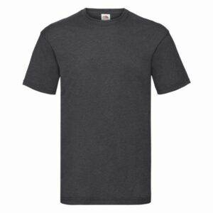 Fruit of the Loom Tričko Valueweight Dark Heather Grey