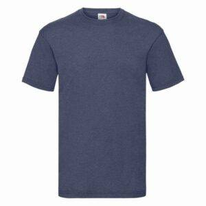 Fruit of the Loom Tričko Valueweight Vintage Heather Navy