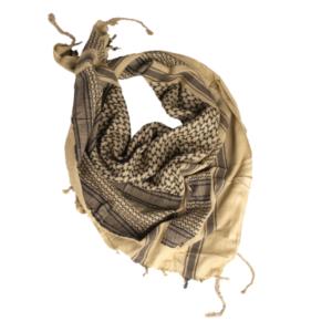 Mil-Tec Šatka Arafatka Bavlnená Khaki Čierna