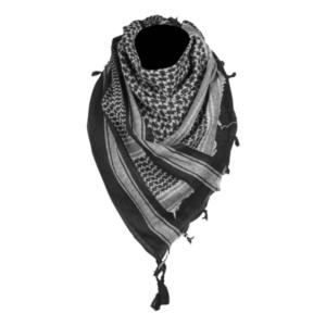 Mil-Tec Šatka Arafatka Bavlnená Čierno Biela