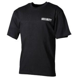 MFH Tričko Bavlnené Security Čierne