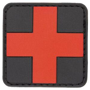 MFH Nášivka Prvá Pomoc 3D Červeno Čierna