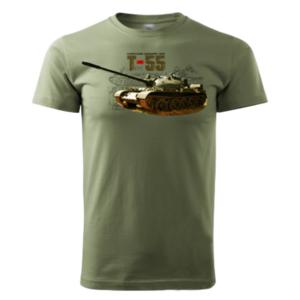 Tank T-55Tričko Bavlnené Olivové