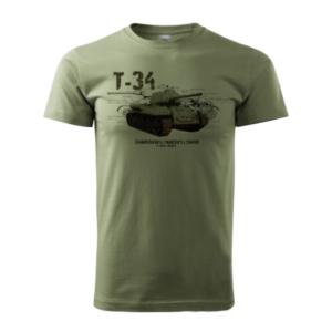 Tank T-34Tričko Bavlnené Olivové