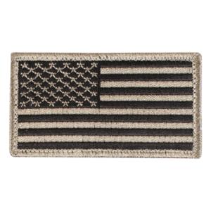 Nášivka Vlajka US 4,5 x 8,5 cm Čierna Khaki